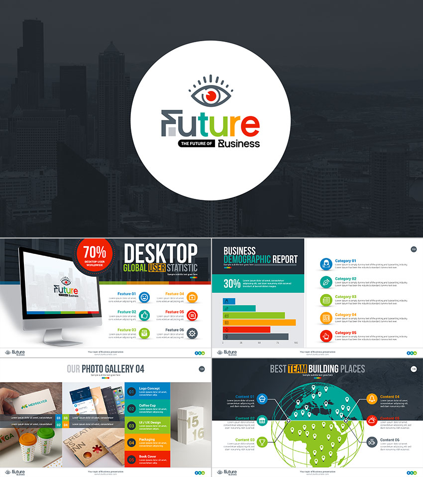 Beautiful Future Business PowerPoint Presentation Template