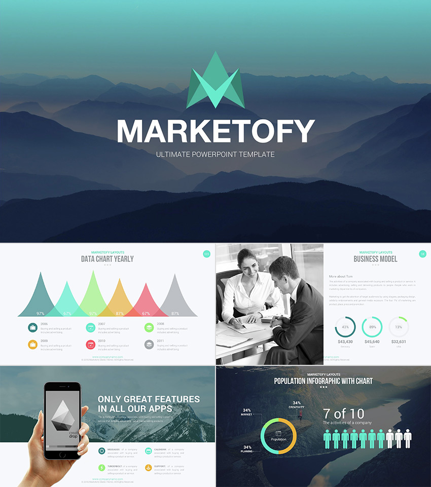 18 professional powerpoint templates for better business presentations marketofy ultimate professional powerpoint template accmission Image collections
