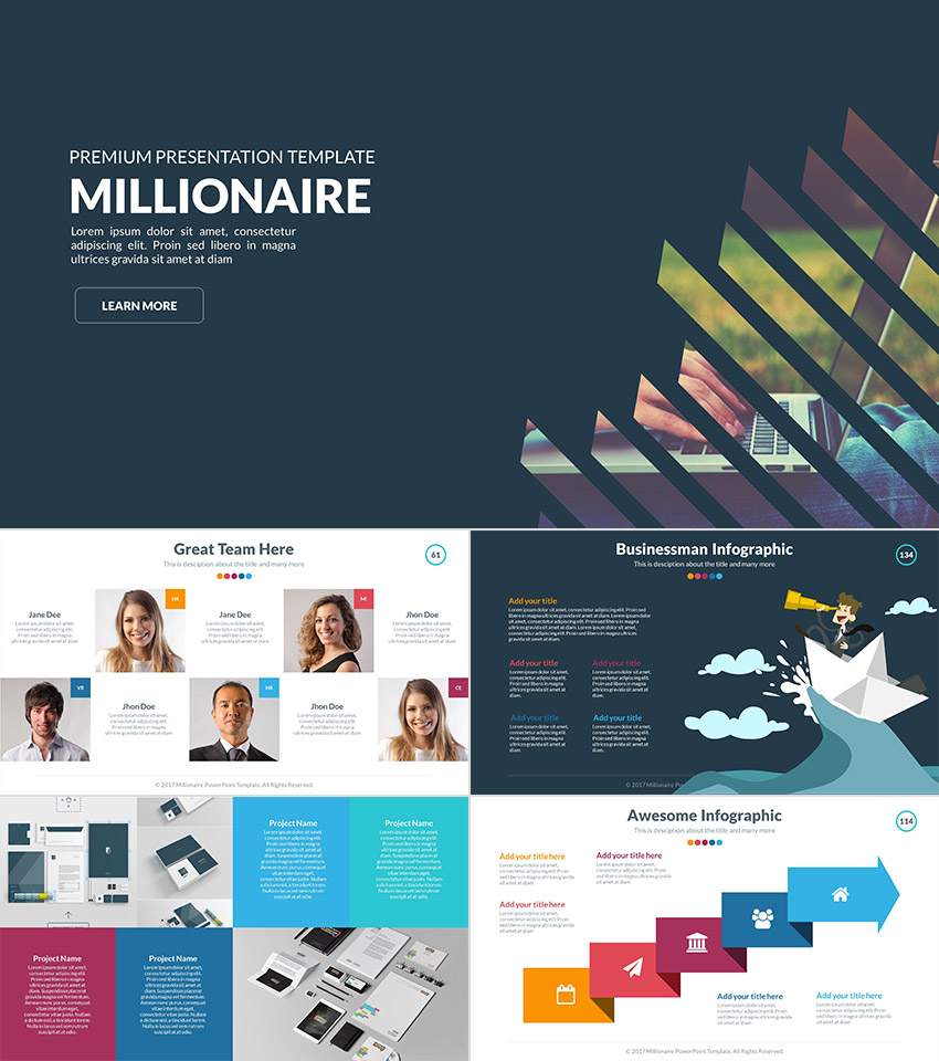Wonderful Millionaire Premium Professional PPT Template