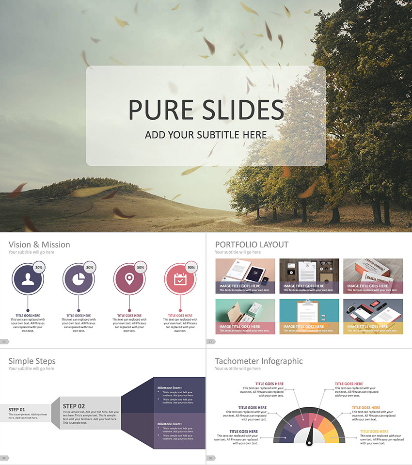 Awesome Pure Business Professional PPT Presentation Template