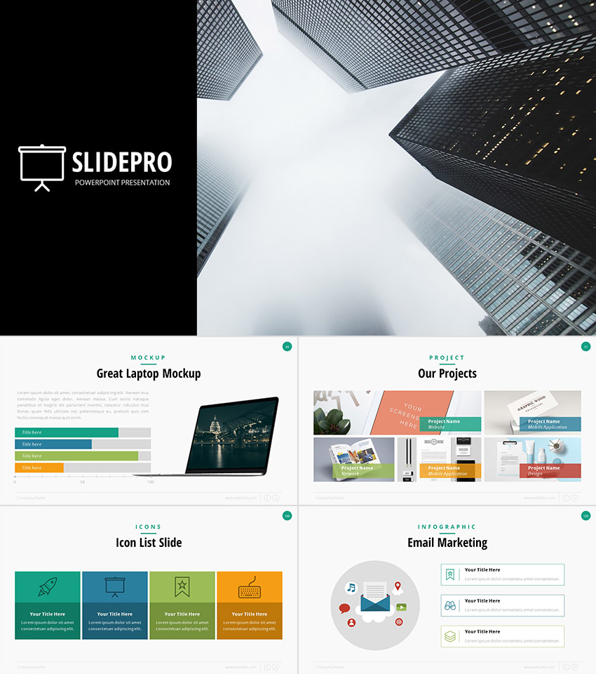 Attractive SlidePro Professional Business PPT Presentation Template