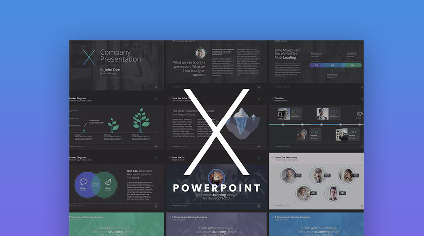 18 professional powerpoint templates for better business presentations the x note premium ppt presentation template fbccfo Image collections