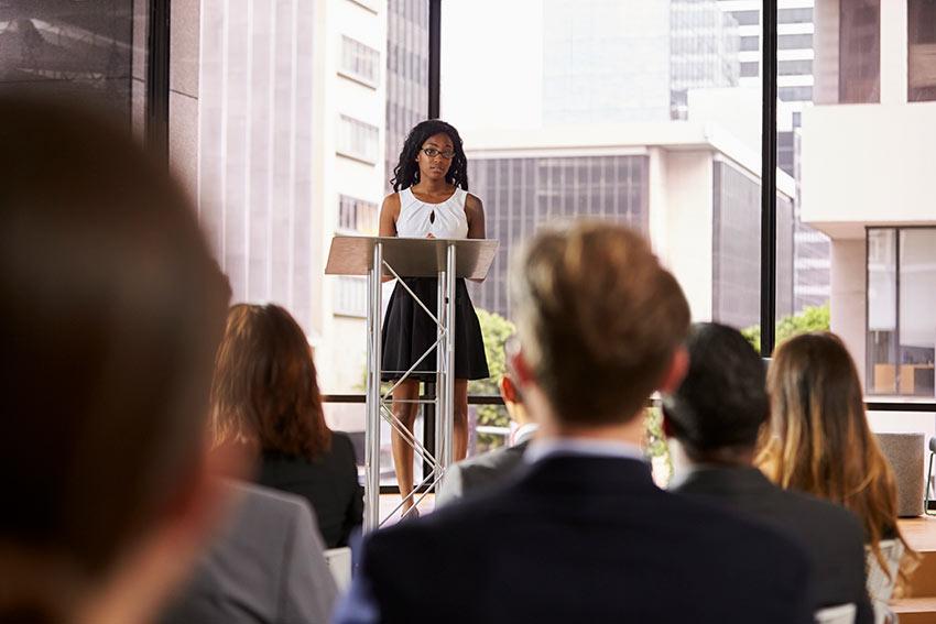 Good presenters speak to their audience