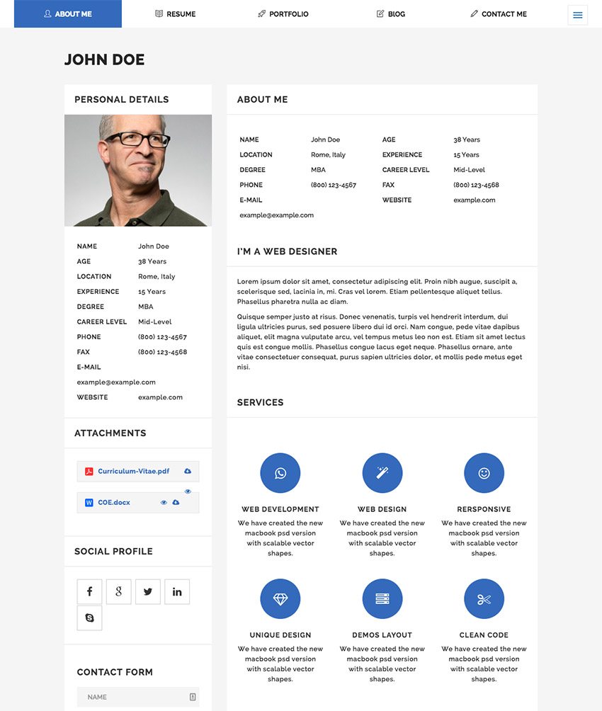Wonderful Moticv   Modern VCard U0026 Resume Builder WordPress Theme With Wordpress Resume Themes