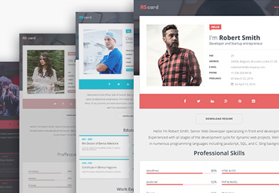 wordpress themes - Website Resume