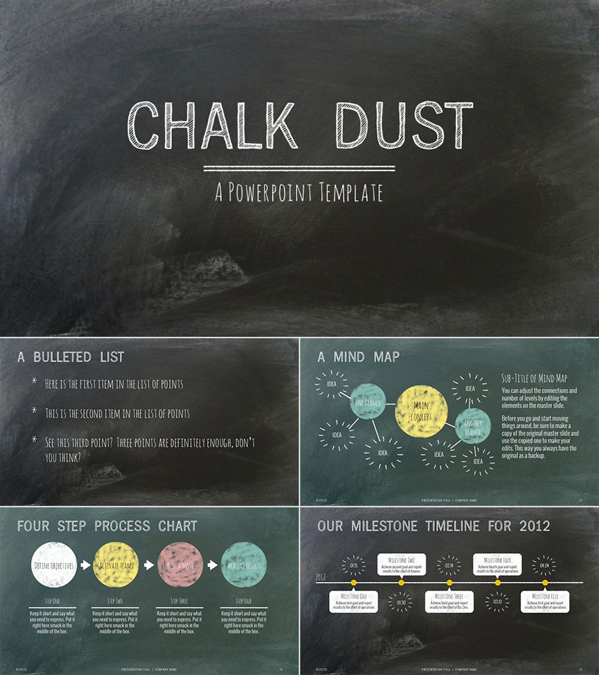 15 education powerpoint templates for great school presentations chalk dust education ppt presentation template design toneelgroepblik Choice Image