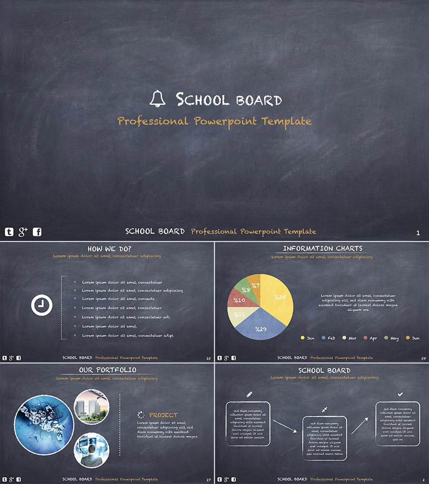 15 education powerpoint templates for great school presentations school board education powerpoint template toneelgroepblik Choice Image