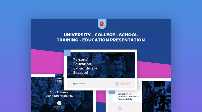 15 education powerpoint templates for great school presentations university school college pro training education ppt toneelgroepblik Choice Image