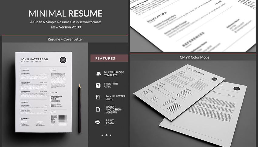 Simple MS Word Resume Template Design