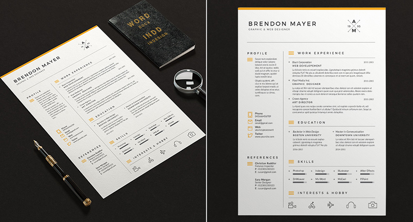 20 professional ms word resume templates with simple designs simple resume microsoft word template design saigontimesfo