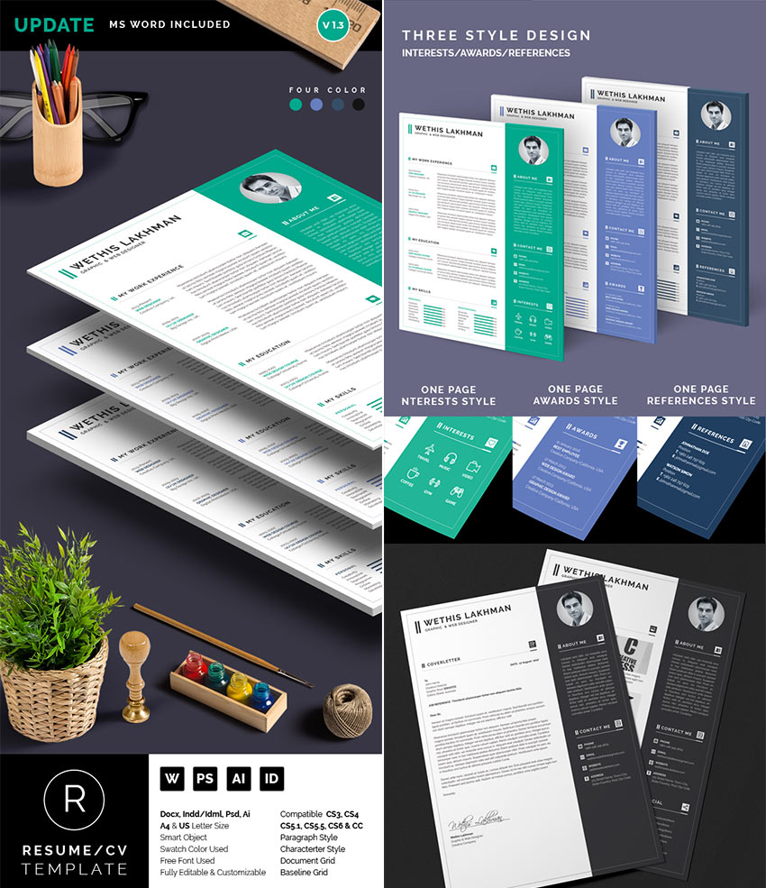 professional ms word resume templates simple designs professional word resume cv template set 3 styles