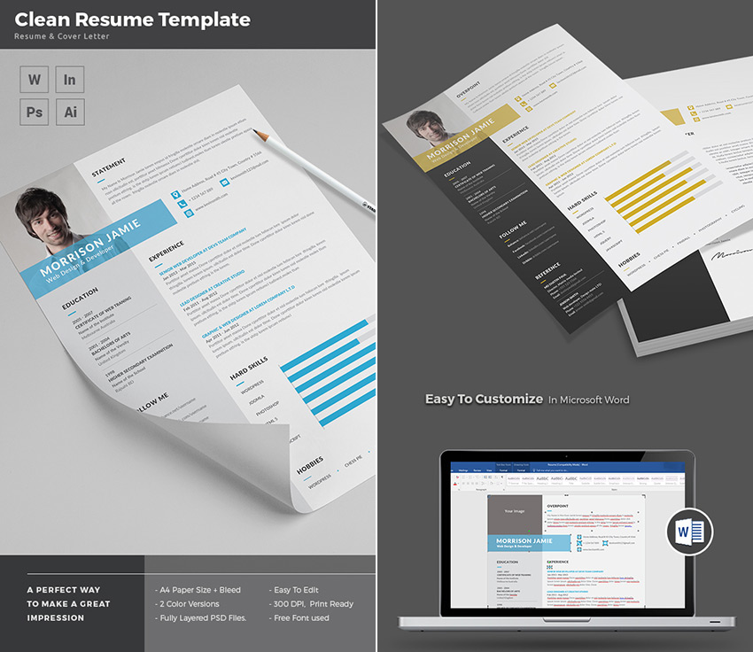 Do You Need Objective On Resume Excel  Professional Ms Word Resume Templates  With Simple Designs General Cover Letter For Resume Excel with Theatrical Resume Clean And Simple Ms Word Resume Template Design Ministry Resume Word