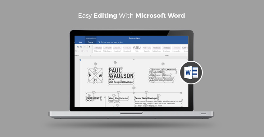 resume templates that are easy to edit in microsoft word - Word Resume Template