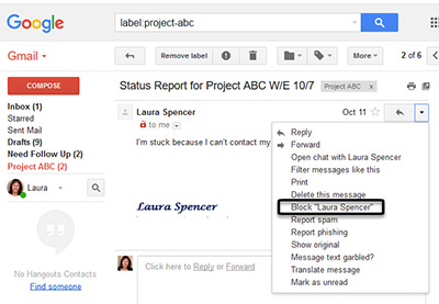 Spam from adult dating gmail