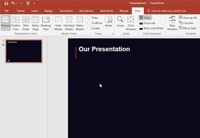 How to use powerpoint slide master view quickly