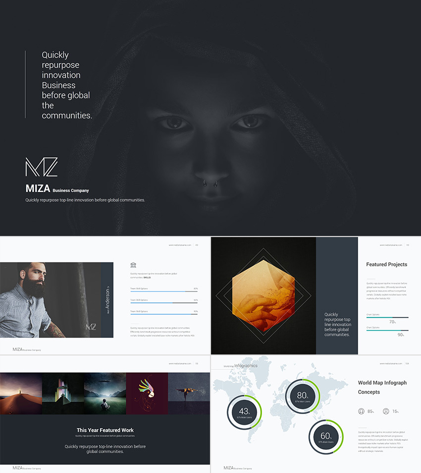 25 awesome powerpoint templates with cool ppt designs miza cool powerpoint template with a clean style cheaphphosting Choice Image