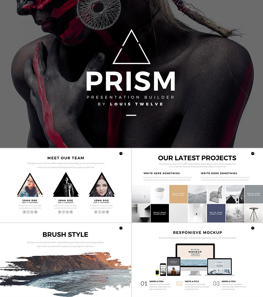 25 awesome powerpoint templates with cool ppt designs prism cool style powerpoint template builder set toneelgroepblik Image collections