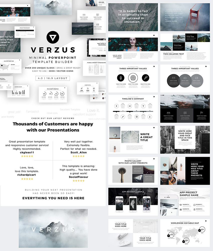 25 awesome powerpoint templates with cool ppt designs verzus awesome powerpoint template with minimal style toneelgroepblik Images