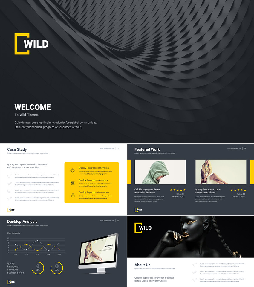 wild presentation awesome modern powerpoint template
