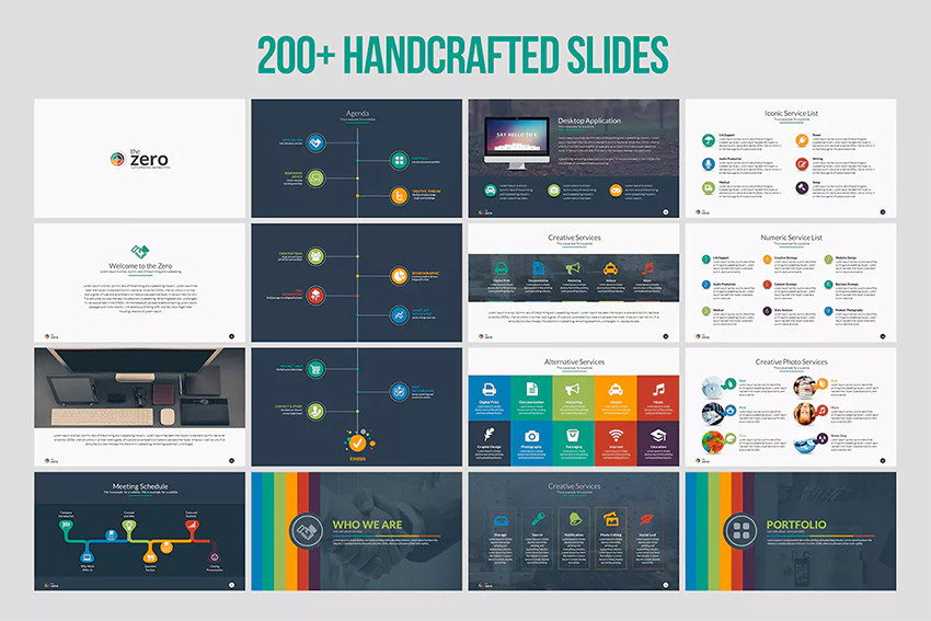 25 awesome powerpoint templates with cool ppt designs zero amazing infographic powerpoint template set toneelgroepblik Image collections