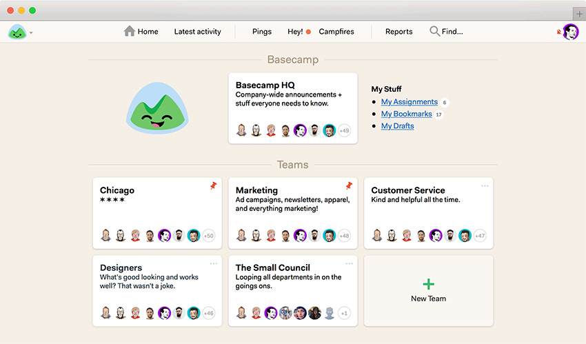 Basecamp online project management software for small business