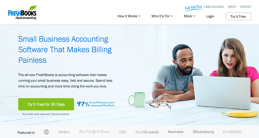 Freshbooks online small business accounting software