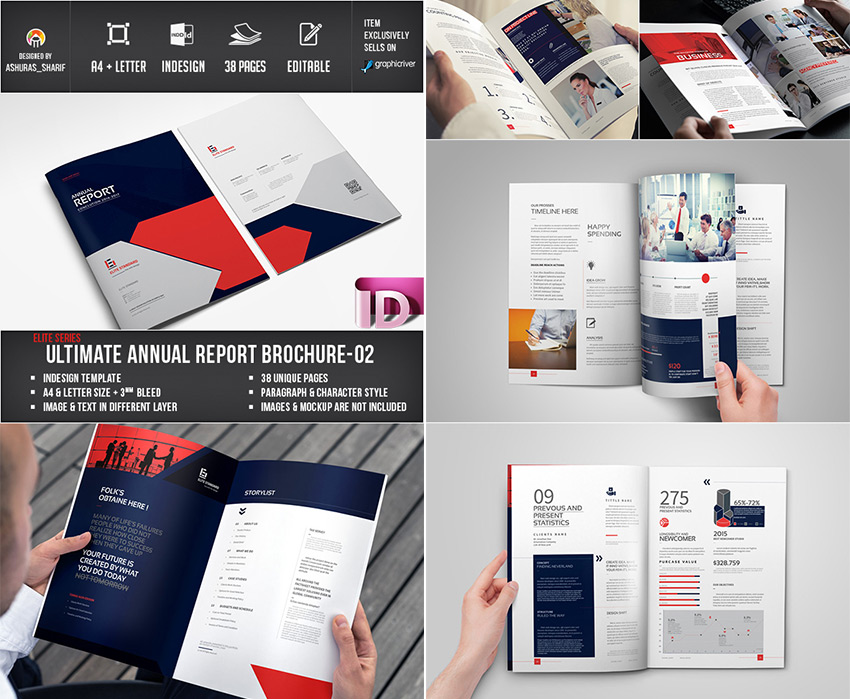 15 annual report templates with awesome indesign layouts for Adobe indesign brochure templates