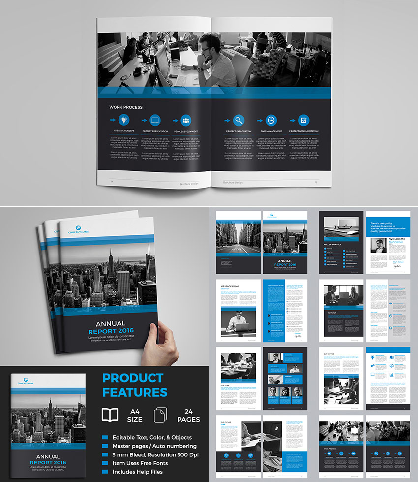 Multipurpose Annual Report InDesign Business Template  Business Reporting Templates