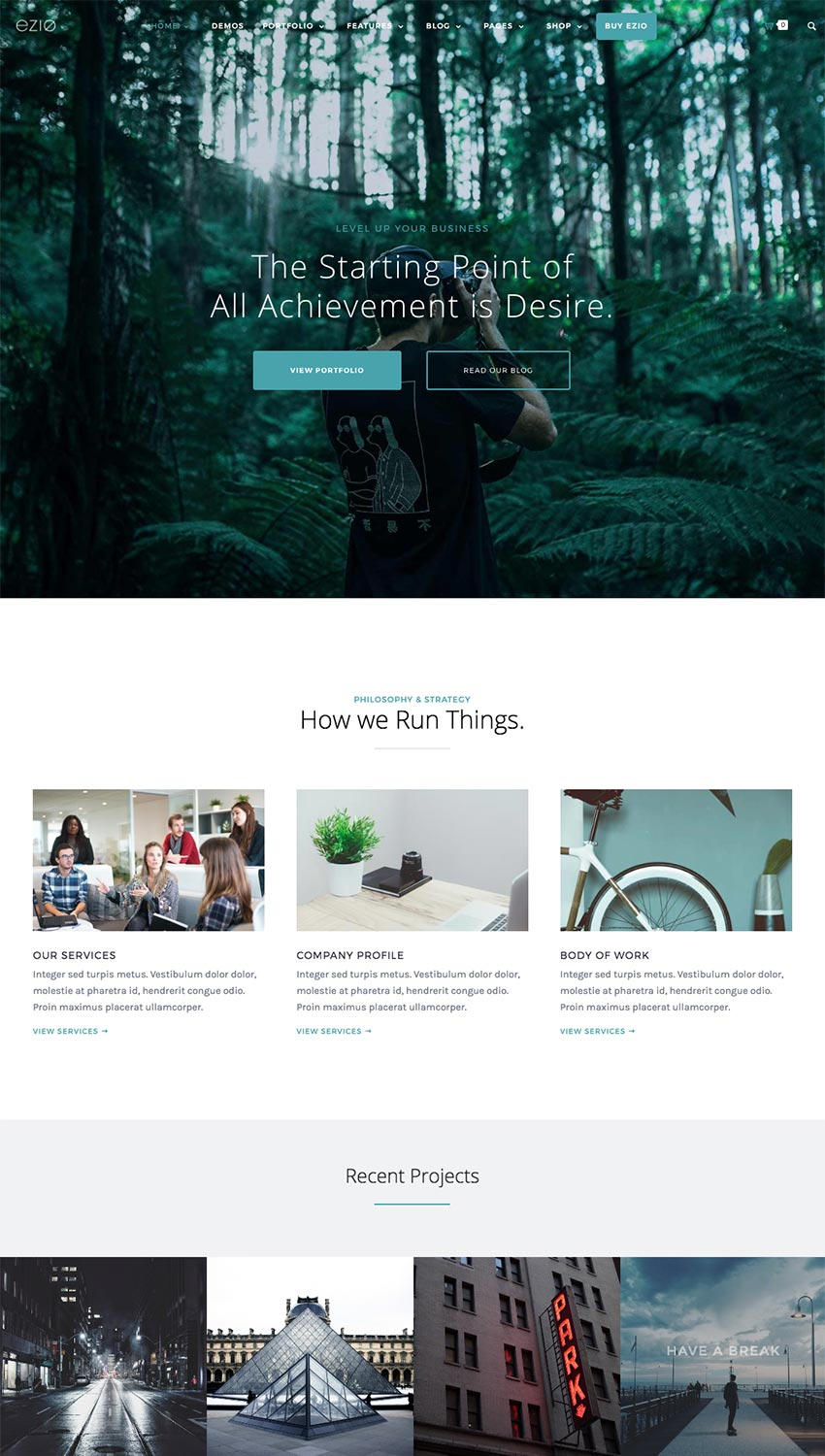 Ezio Creative WordPress Theme Best for Digital Agencies