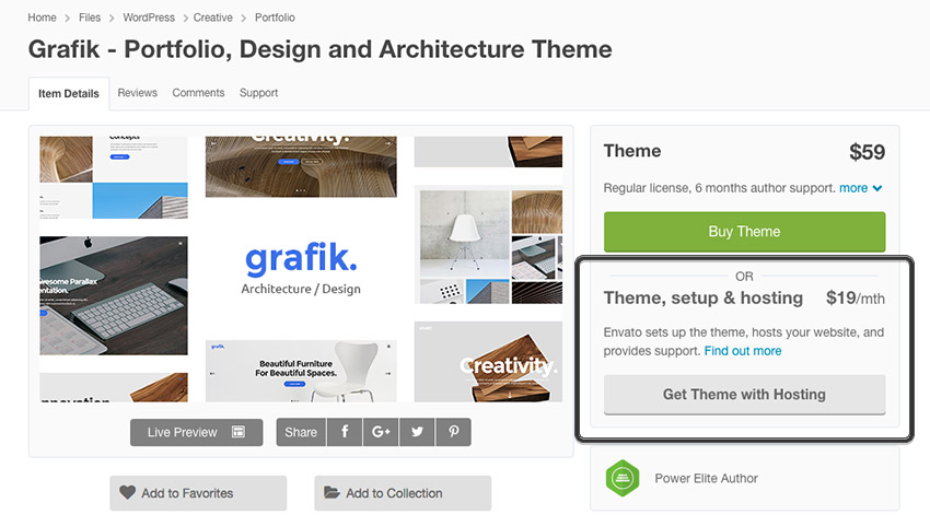 Grafik Creative Agency WordPress theme with Envato Hosting