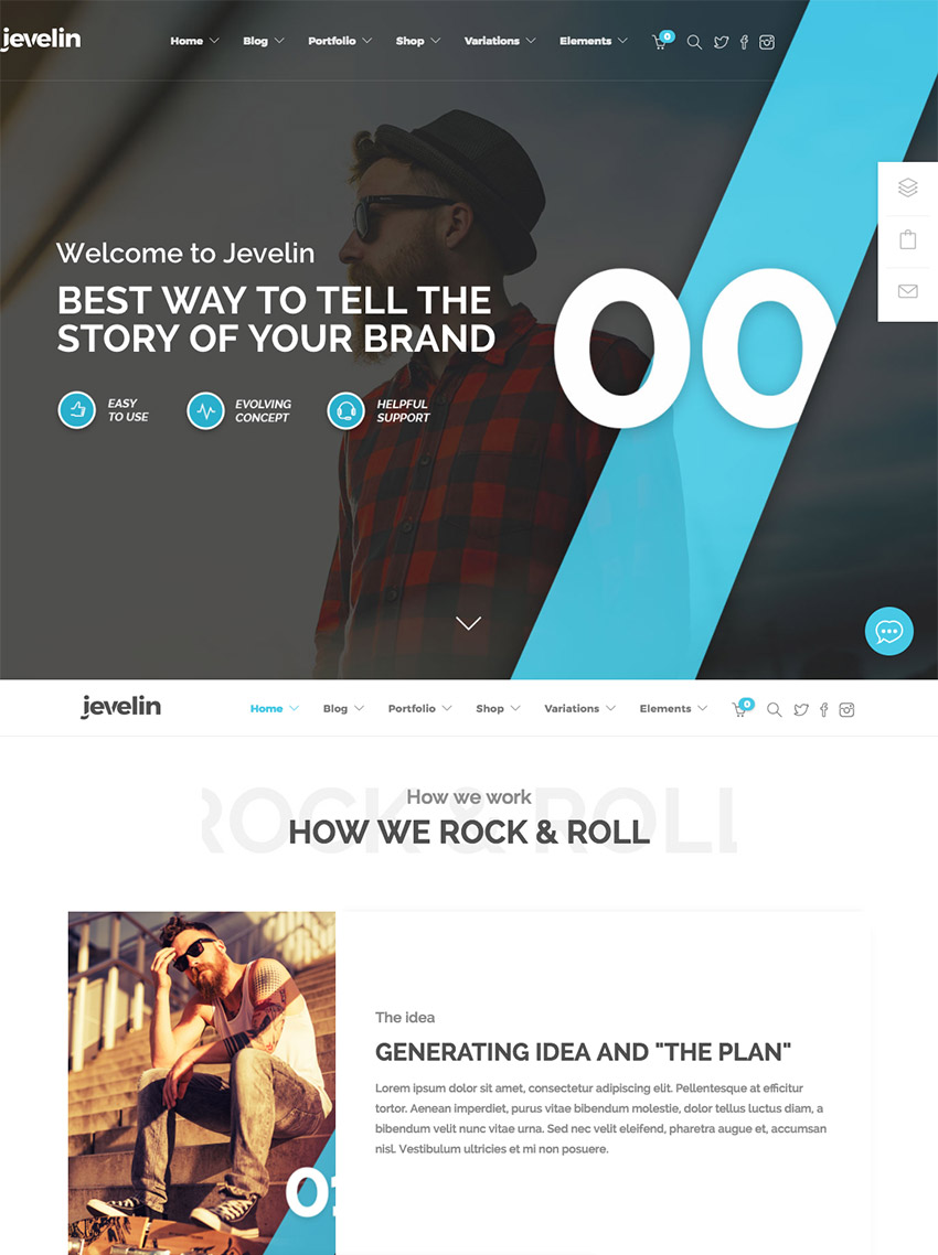 Jevelin Creative WordPress Theme for Creative Agencies