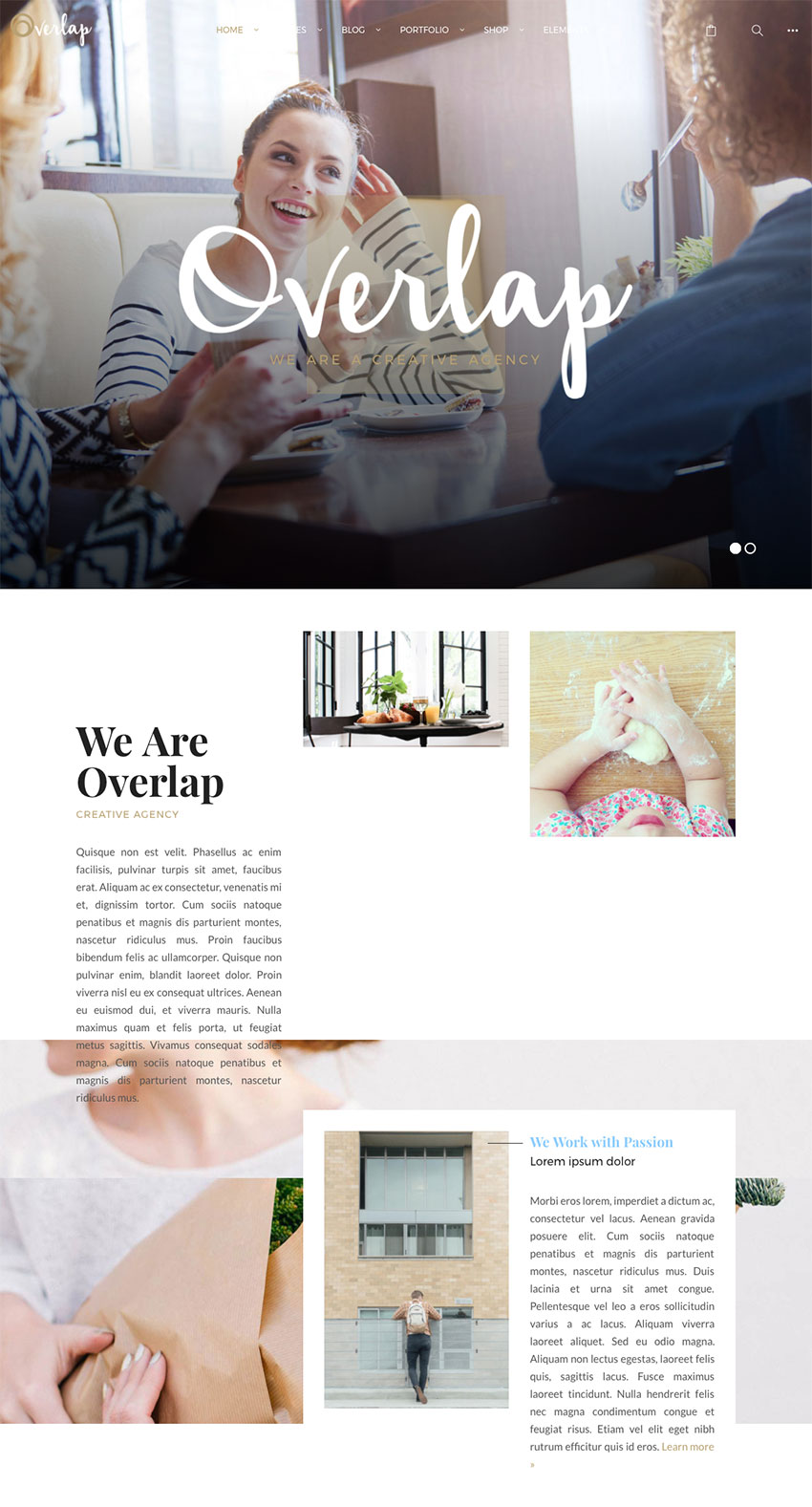 Overlap - High Performance Creative WordPress Agency Theme