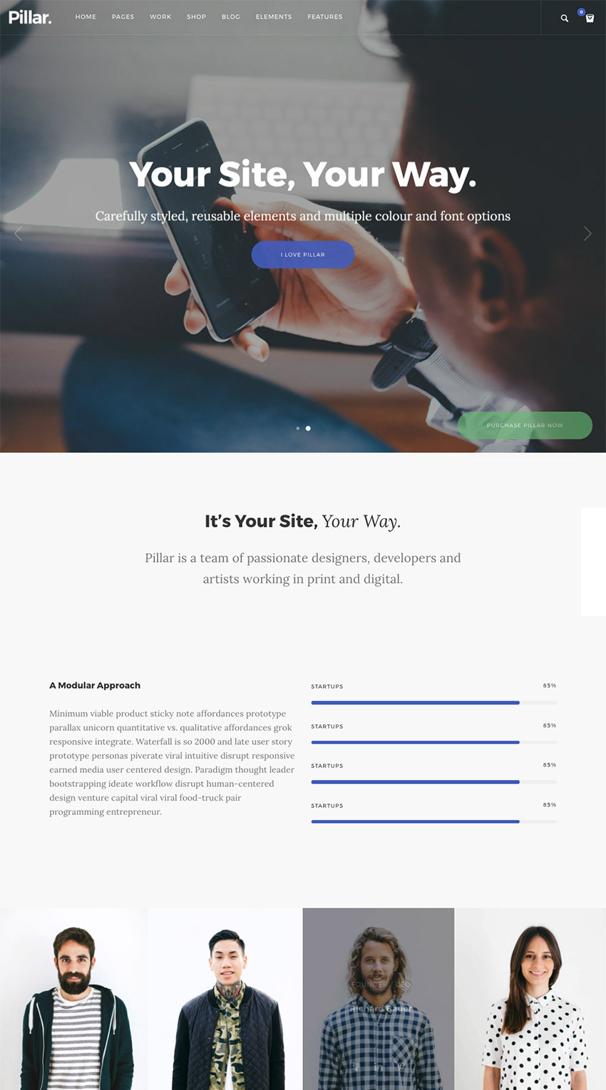 Pillar - Creative Agency WordPress Template