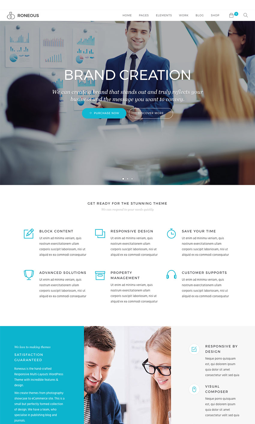 Roneous - Business Multi-Purpose WordPress Agency Theme