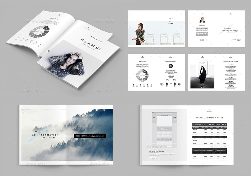 Beautiful media kit template on GraphicRiver