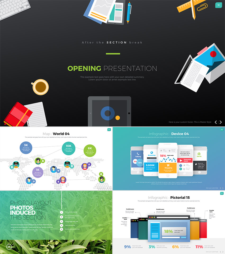 Digit One-Stop Business PowerPoint PPT Template 2016