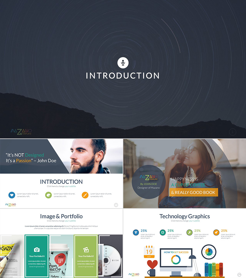 Mazano Colorful 2016 Multipurpose PowerPoint Template