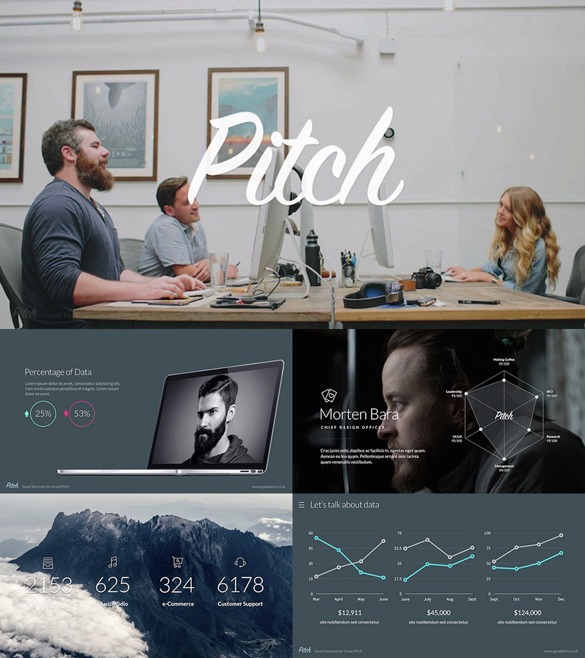 Pitch 2016 Modern PowerPoint Template Design