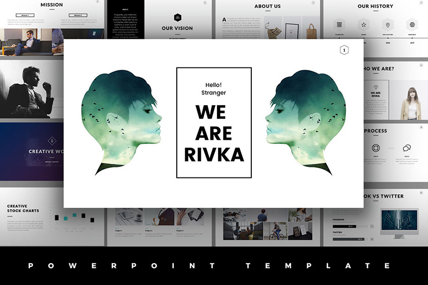 Rivka unlimited use minimal PowerPoint template