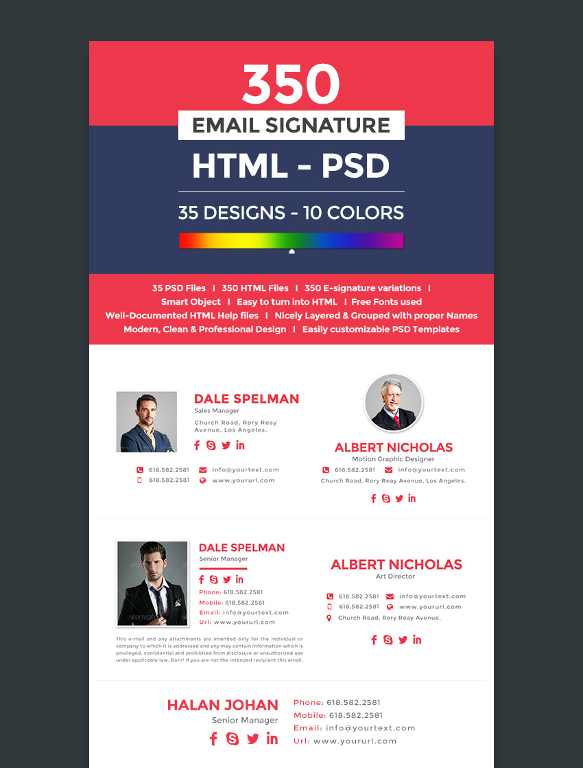 Professional Email Signature Templates With Unique Designs - How to design an email template