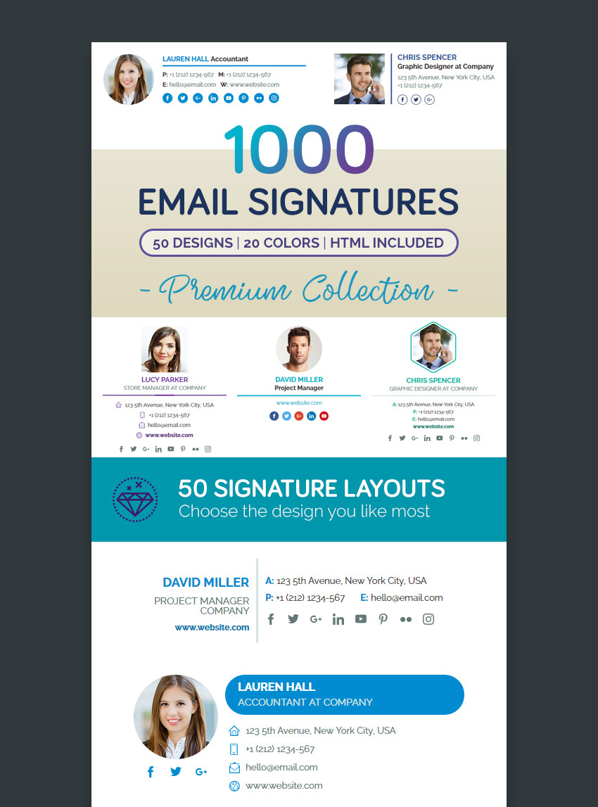 unique email signature - Etame.mibawa.co
