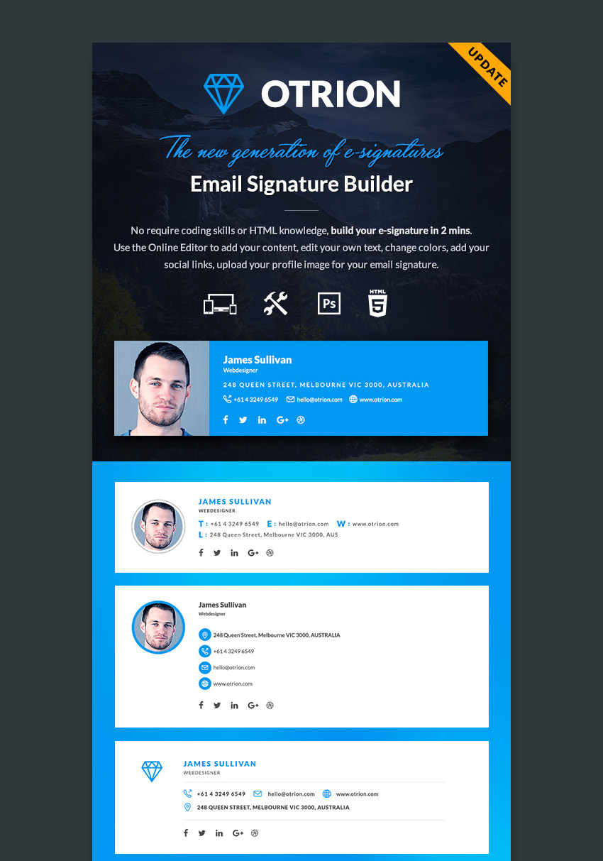12 Professional Email Signature Templates With Unique Designs – Professional Email Template