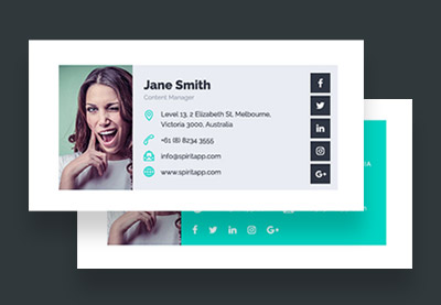 18 Professional Html Psd Email Signature Templates With Unique