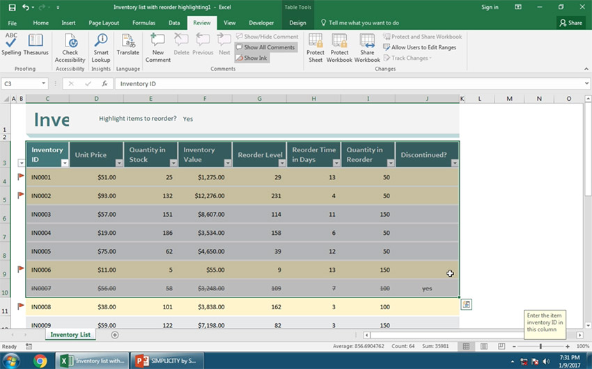 Copy Your Excel Data to PowerPoint