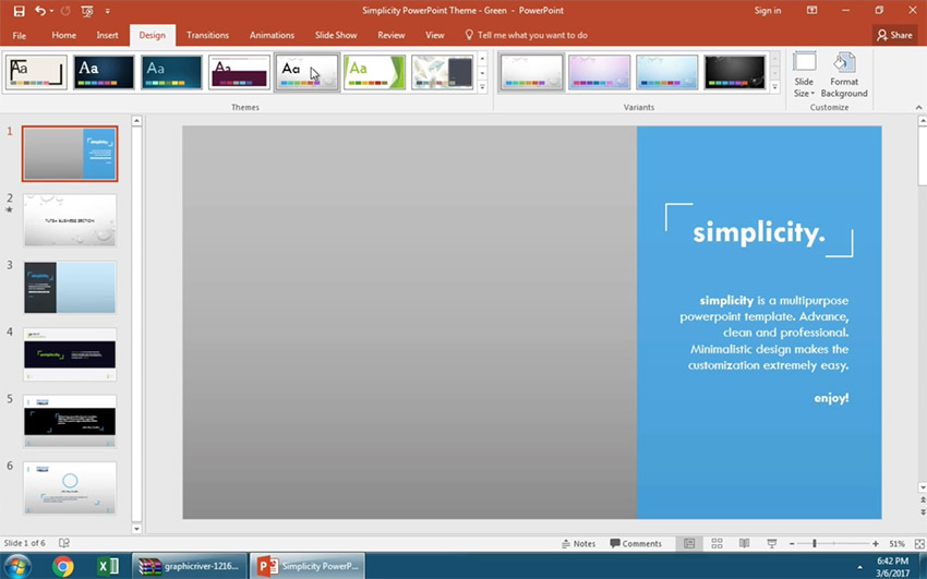 how to change your powerpoint template in 60 seconds, Modern powerpoint