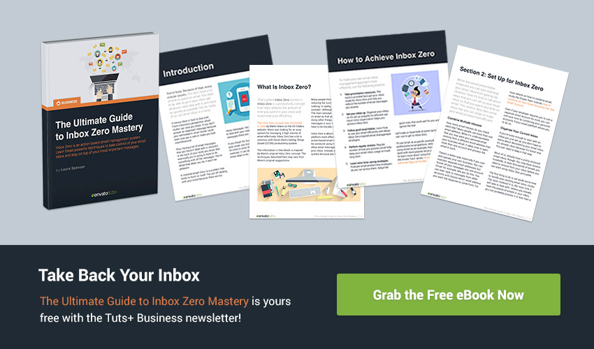 Sign up for the Tuts Business newsletter and get the free Inbox Zero ebook now