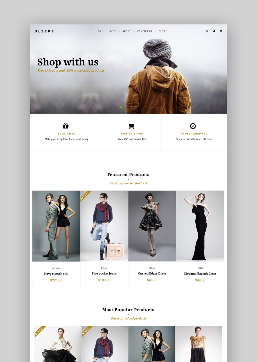 Dezert Minimal Online Store Theme for BigCommerce