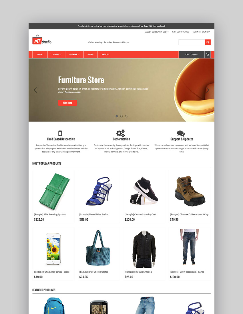 MTStudio Customizable  Responsive BigCommerce Theme