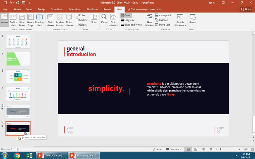 Paste your PowerPoint slide with its current formatting