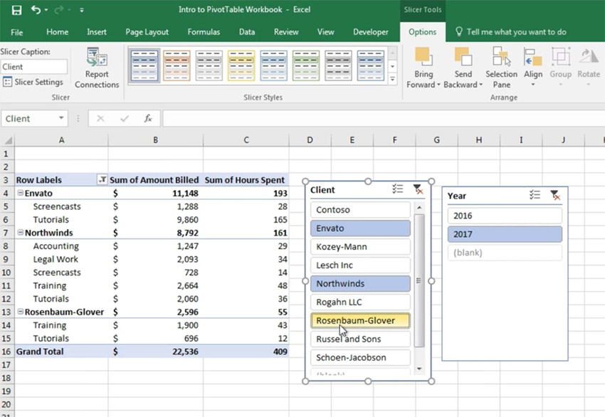 Customize your Excel Pivot Table Slicer selections
